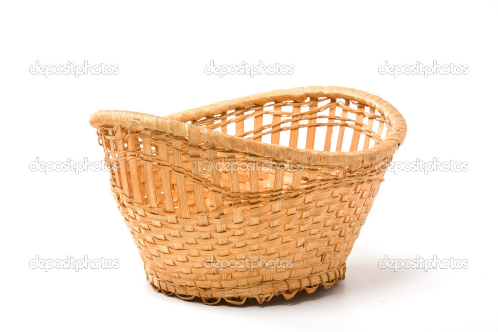 Empty basket  isolated on a white background  Stock Photo #1621988