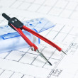 Architectural drawing - Stock Photo