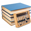 Wooden abacus on a pile of books — Stock Photo #2067946