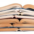 Stack of open books — Stock Photo #2194820
