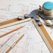 Stock Photo: Old technical drawings