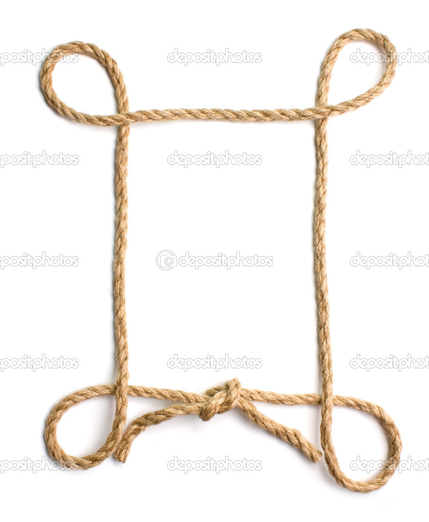 Picture Frame Of Rope Stock Photo Observer 2403310: rope photo frame