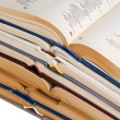 Stack of open books — Stock Photo #2485534