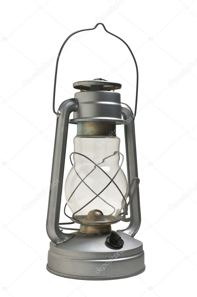 New kerosene lamp isolated on white background — Stock Photo #2509422