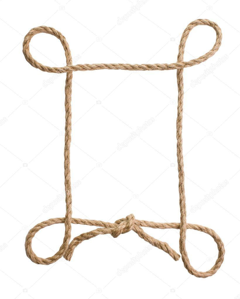 Picture frame of rope stock photo observer 2557460 Rope photo frame