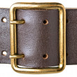 Stock Photo: Buckle military belt