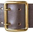 Buckle military belt — Stock Photo