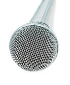 Classic dynamic microphone — Stock Photo