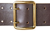 Buckle military belt — Stock Photo
