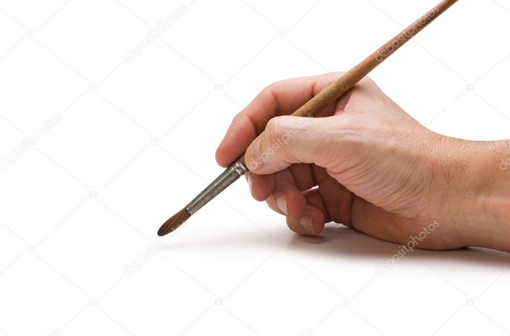 Как рисовать кисти держащие