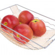 Foto Stock: Apple on braided stand