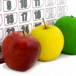 Apple on background of calendar — Stock Photo #1025653