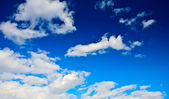 Abstract blue cloudy sky — Stock Photo