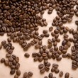 Background of coffee on a paper close up — Stock Photo