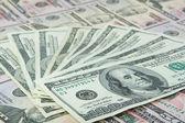 Background of money — Stock Photo