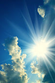 Background of the sky and sun — Stock Photo