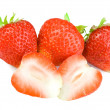 Royalty-Free Stock Photo: Catting strawberries