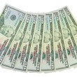 Fan of dollars isolated - Foto Stock
