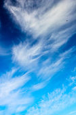 Cirrus clouds on a blue sky — Stock Photo