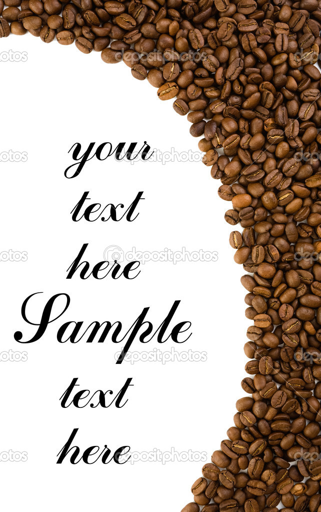 Frame of coffe fith curve border  Stock Photo #1077835