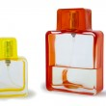 Two perfume bottle isolated — Stock Photo