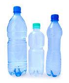 Three bottle isolated — Stock Photo