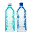 Two transparent bottle of water isolated — Stock Photo #1743936