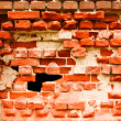 Royalty-Free Stock Photo: Old destroyed brick wall