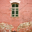 Old wall with window — Stock Photo