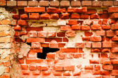 Old destroyed brick wall — Stock Photo