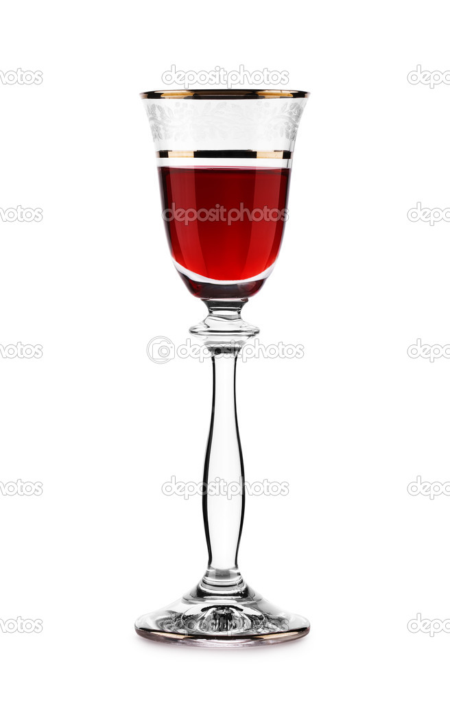 Glass with red wine  Stock Photo #2302942