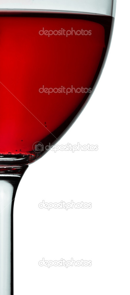 Glass with red wine closely — Stock Photo #2302966
