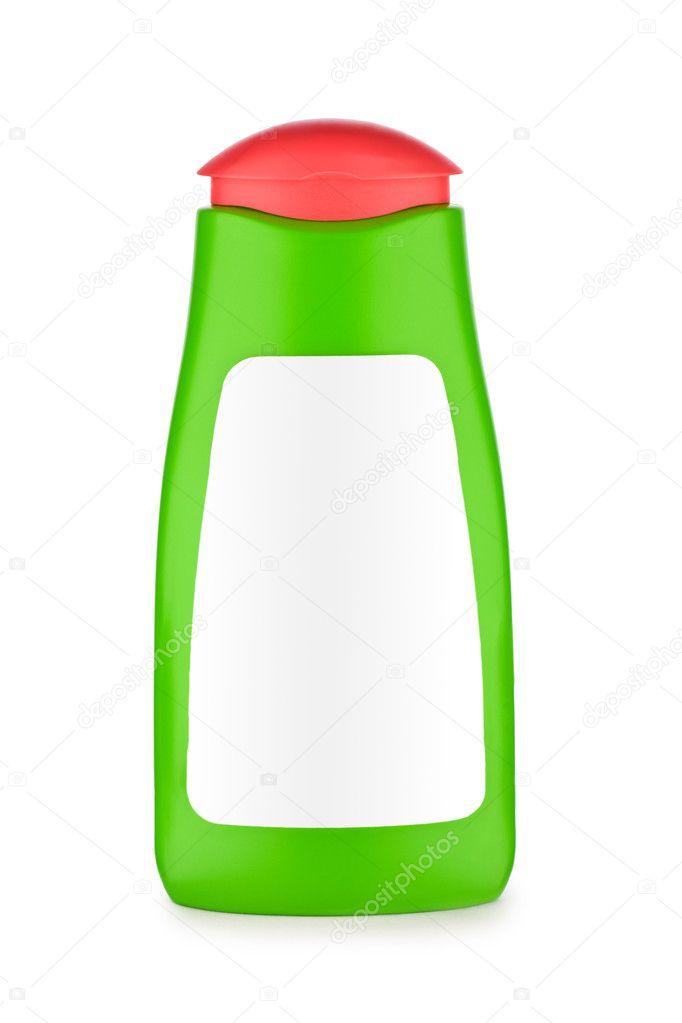 绿色的瓶子的洗发水