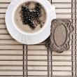 Royalty-Free Stock Photo: Coffee composition of cappuchino on mat