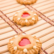 图库照片: Cookie on mat