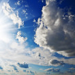 Cloudy heaven and sun — Foto Stock