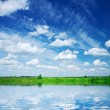 Royalty-Free Stock Photo: Lake on the field