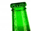 Top of bottle of beer dropped — Stock Photo #2450594