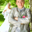 Groom and bride — Stock Photo #2465625