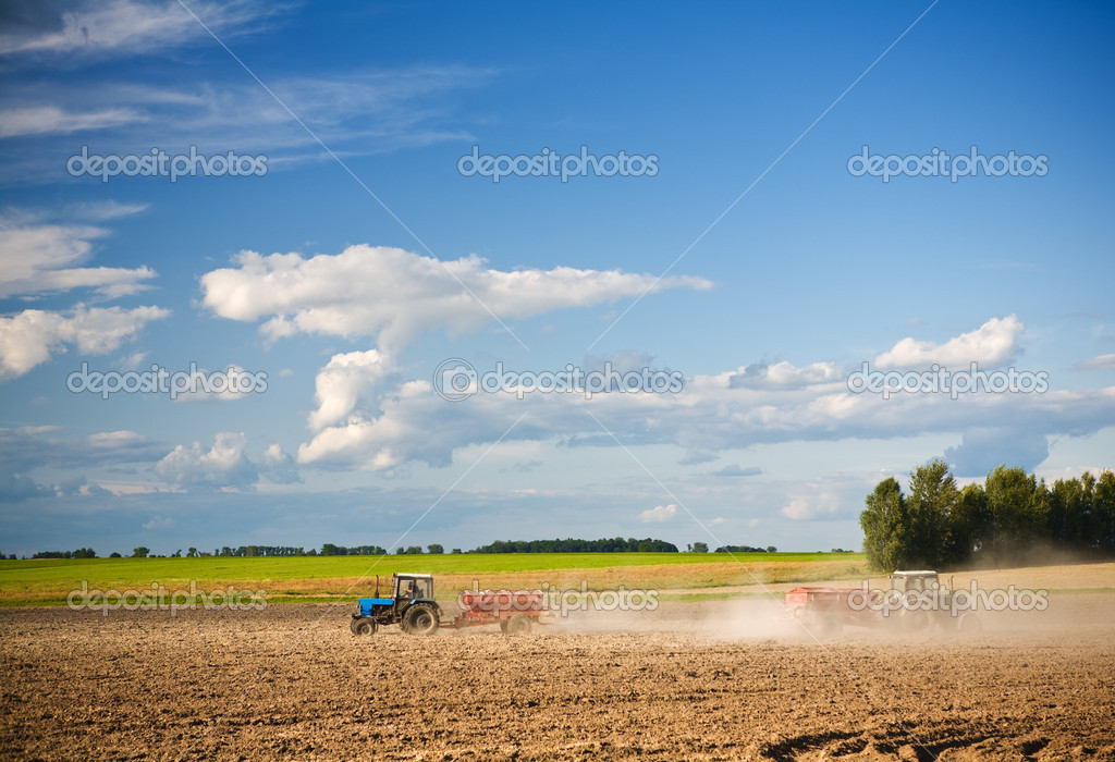 Agricultural action on the field — Stock Photo #2464200