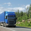 Truck on country highway — Stock Photo