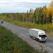 Stock Photo: Autumn, trucks