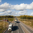 Scandinavia highway, intersection - Stock Photo