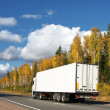 Autumn trucking — Stock Photo