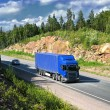 Blue truck — Stock Photo