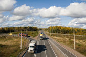 Scandinavia highway, intersection — Stok fotoğraf