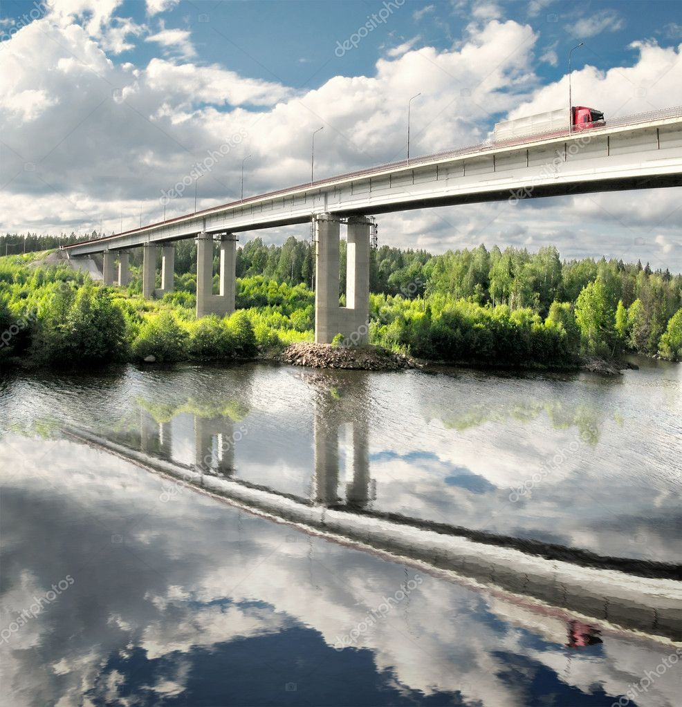 Bridge over Saima channel, Baltic sea, highway Scandinavia  Stock Photo #1007883