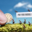 Royalty-Free Stock Photo: Ants demand payment for work