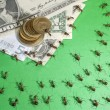 Stock Photo: Financial crisis in anthill