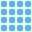 Royalty-Free Stock Векторное изображение: Blue geometrical pattern